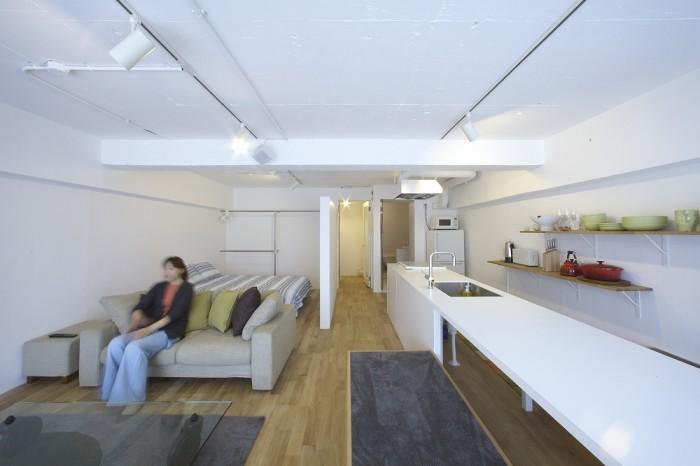 天井、壁/スケルトンに塗装