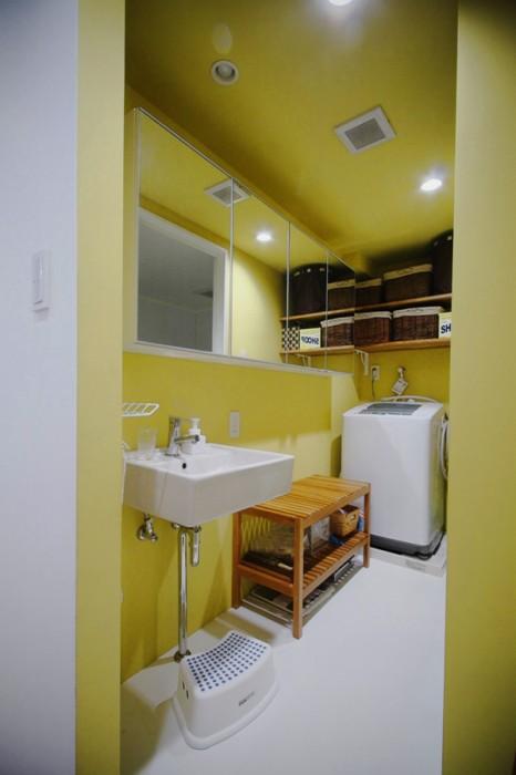 角型ベーシックタイプ洗面+鏡