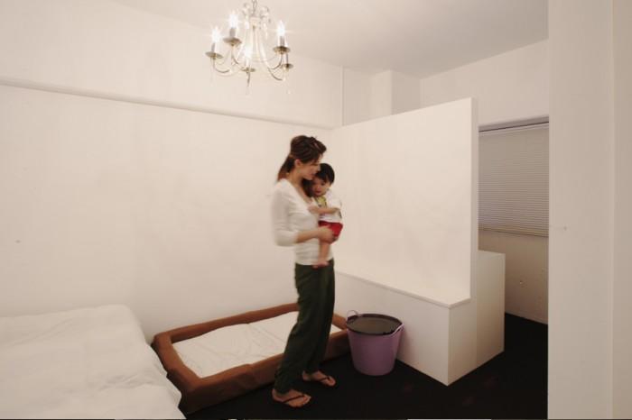 壁:壁を作って水性塗装